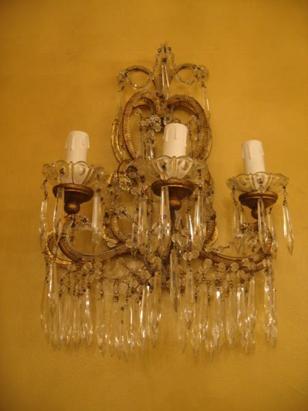Set of 3 19th C. Florentine Wall sconces (82/04)