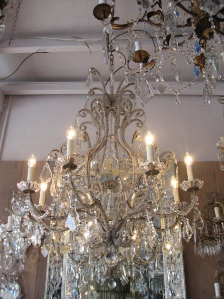 19th C. Genova beaded chandelier (11-11)