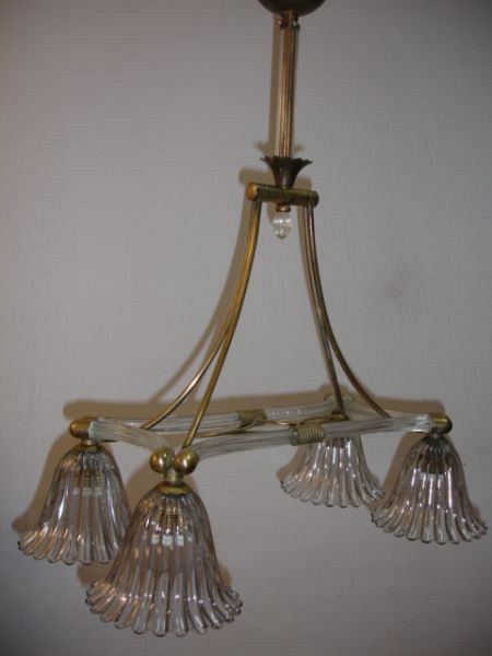 1930's Barovier chandelier 4 lights (12-46 I)