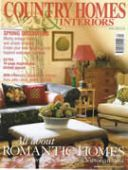 Country Homes & Interiors: Glass Chandeliers April 2003