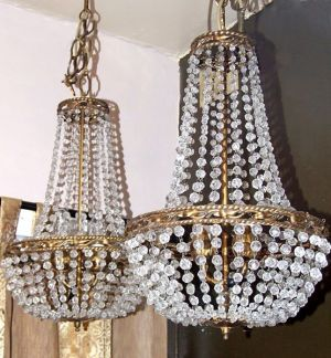 1920's Genova Beaded Empire chandelier (11-23)