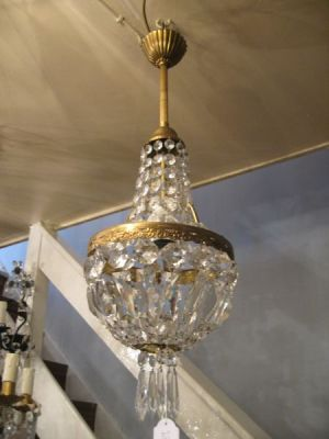 1930's pair of empire chandeliers (11-108)