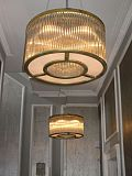 Crystal Bars Ring chandelier 60