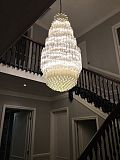 Bespoke crystal chandelier London November 2015