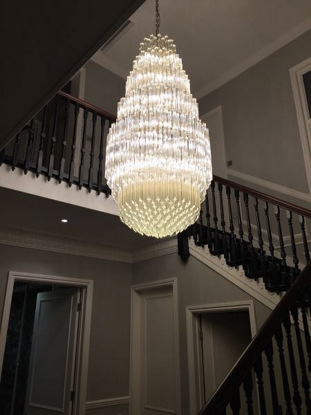Bespoke crystal chandelier London November 2015 1