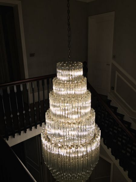 Bespoke crystal chandelier London November 2015 2