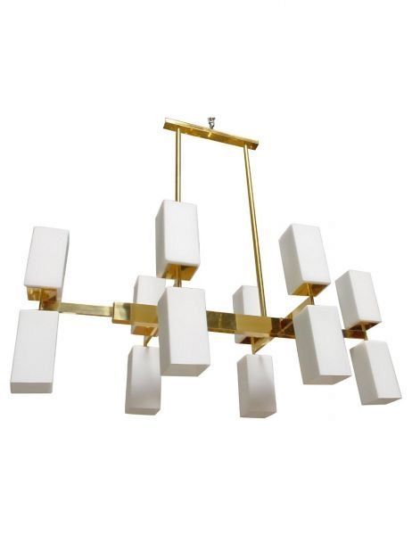 Murano Rectangular Glass Chandelier